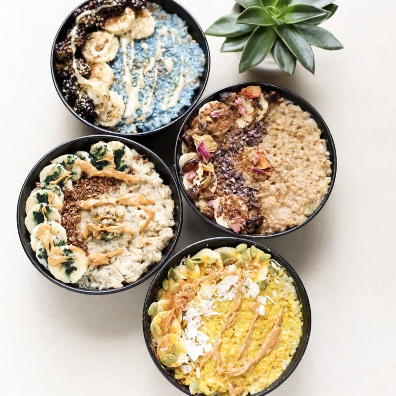 Meg De Jong superfood oatmeal bowls