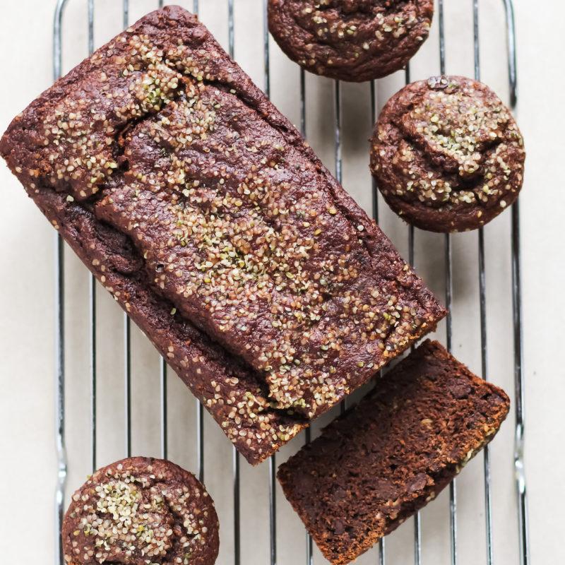 Meg De Jong Nutrition healthy chocolate banana loaf