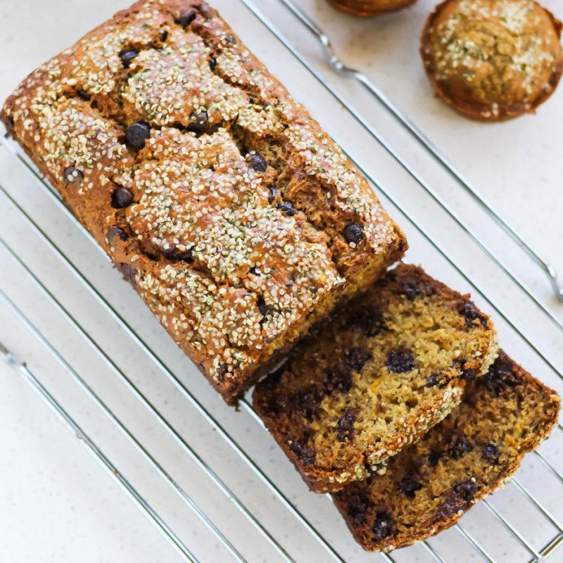 Meg De Jong Nutrition zucchini oat bread