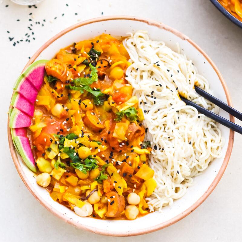 Ramen Noodle Curry Coconut Milk Free