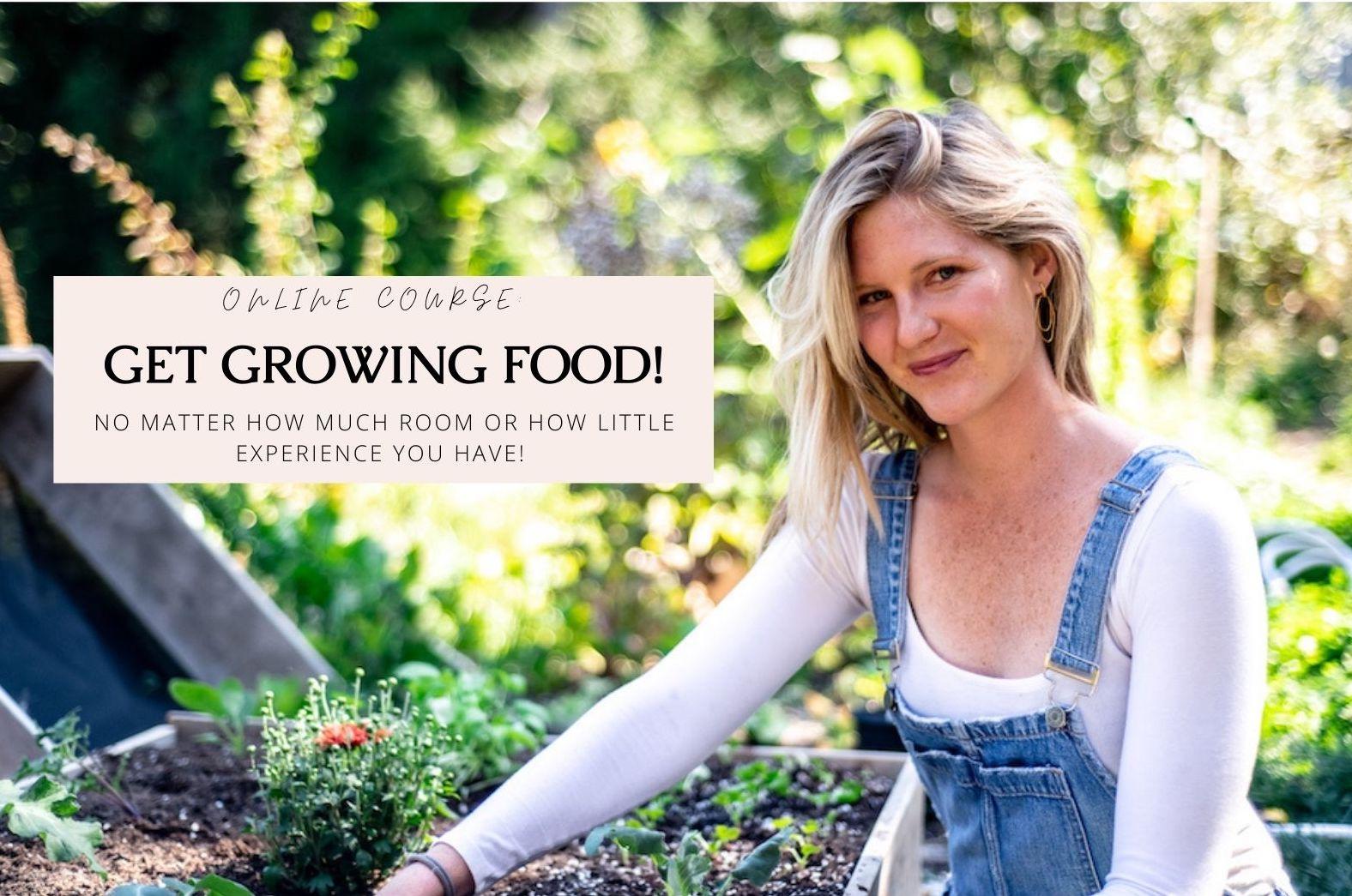 Meg De Jong get growing food course
